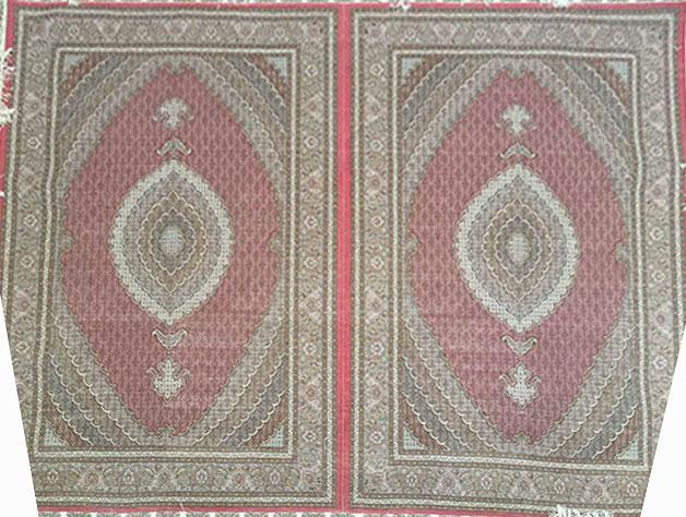 طرح کمال الملک - رنگ سرمه ای - حاشیه افسری - پنجاه رج - فرش ارزان - فرش دستبافت فیروزه ای - فرش ماهی - فرشهای ارزان - فرش ابریشم